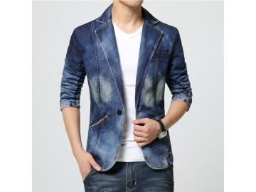 Blazer Jeans Masculino - Azul