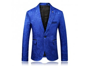 Blazer Masculino Estampado - Azul