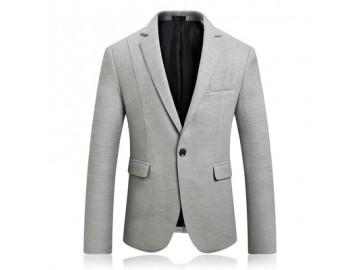 Blazer Masculino Texturizado - Cinza