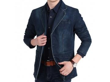 Blazer Jeans Masculino - Azul Escuro