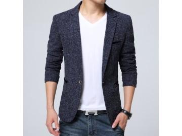 Blazer Masculino com Riscas - Azul Escuro