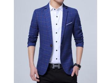 Blazer Masculino Xadrez - Azul