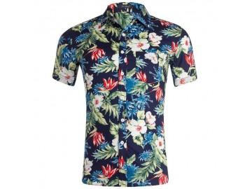 Camisa Estampada Masculina - Floral Multicor