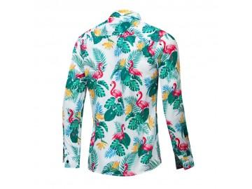 Camisa Floral Masculina - Verde