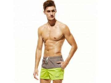 Short Masculino Tropical - Cinza/Verde