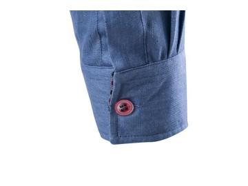 Camisas Jeans Masculina Slim Fit Manga Longa - Azul Claro