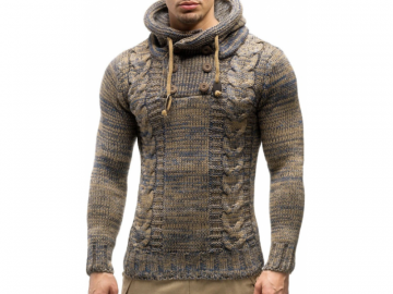 Pullover Masculino Half Button - Bege