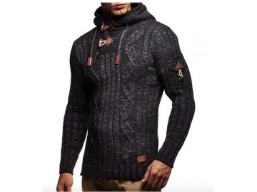 Cardigan Masculino Knit Button - Cinza Escuro