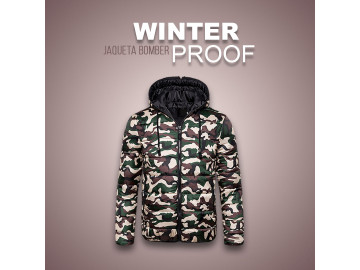 Jaqueta Bomber Winter Proof - Camuflada