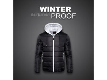 Jaqueta Bomber Winter Proof - Preto e Branco