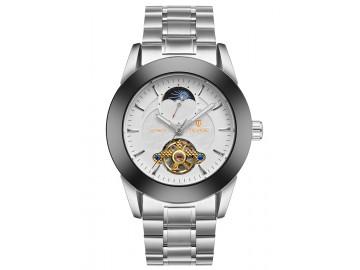 Relógio Tevise 8378 Masculino Automático Pulseira de Aço Inoxidável - Branco