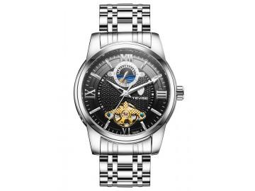 Relógio Tevise T805D Masculino Automático Pulseira de Aço Inoxidável - Preto
