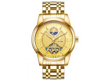 Relógio Tevise T805D Masculino Automático Pulseira de Aço Inoxidável - Dourado