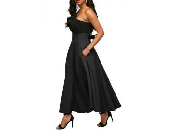 Vestido Duas Peças Assimétrico - Preto