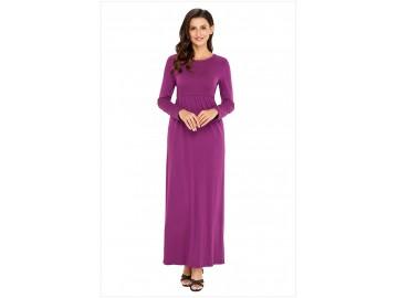 Vestido Longo Manga Longa - Violeta